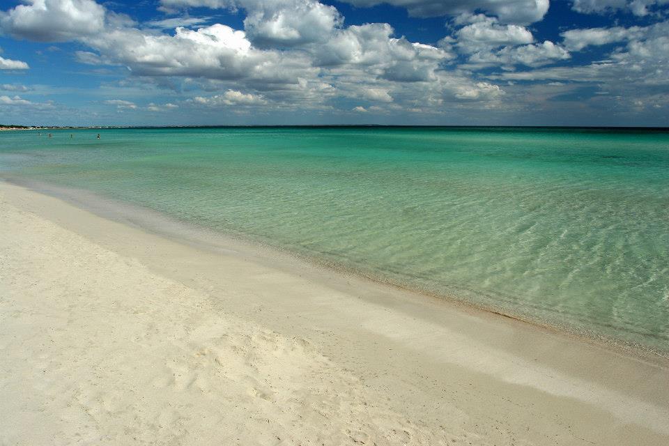 beautiful empty beach in puglia