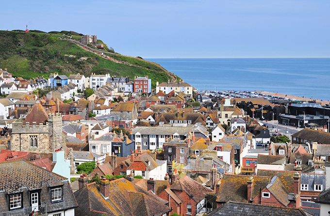 View of Hastings & the Sea