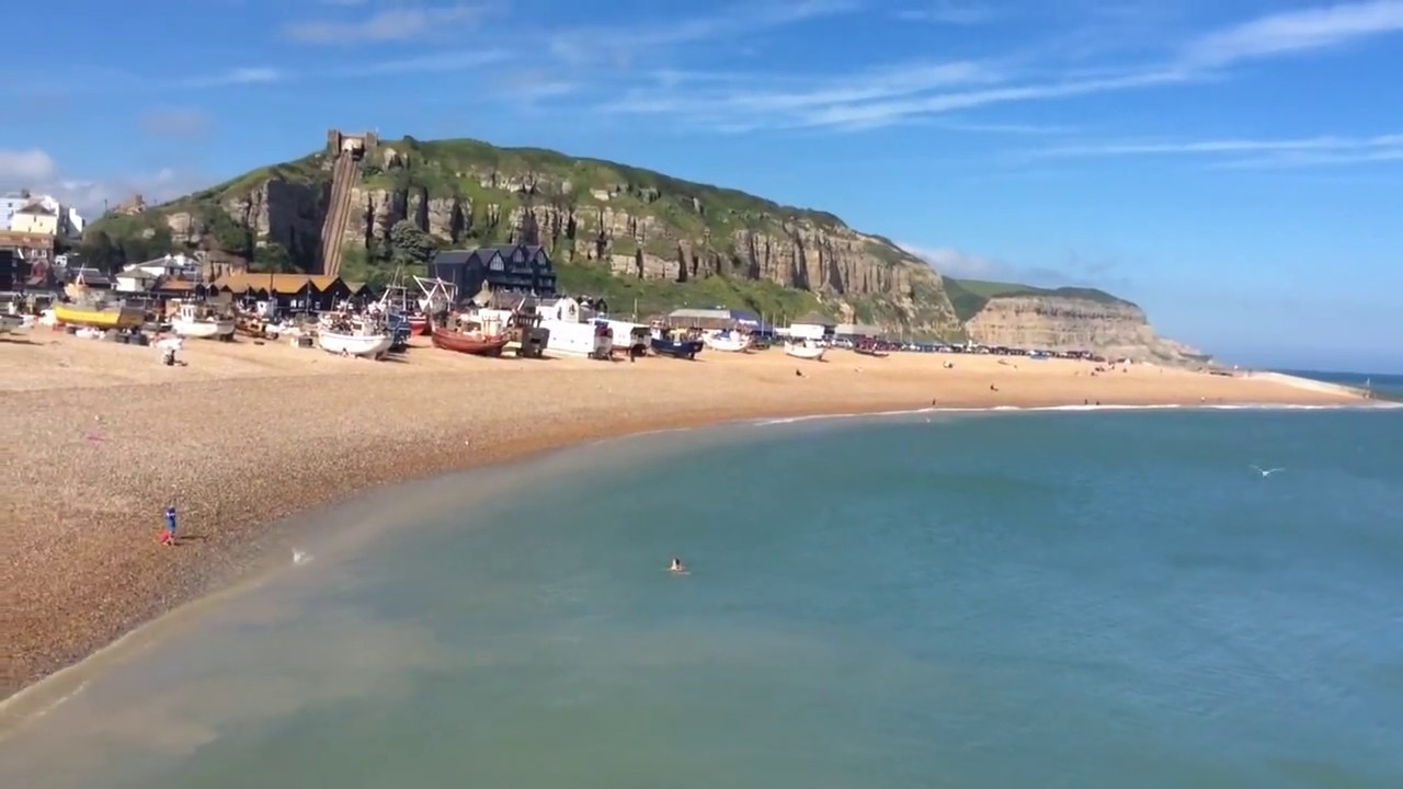 Beach and boats in Hastings